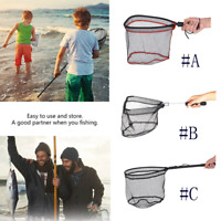 Foldable Fishing Net Aluminum Alloy Fly Fishing Landing Net  Large Mesh Hand Dip