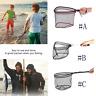 Foldable Fishing Net Aluminum Alloy Fly Fishing Landing Net  Large Mesh Hand Dip