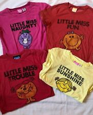 Lot (4) Mr. Men Little Miss T-shirts - Sz S