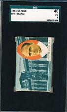 1963-64 Alfredo Di Stefano FHER SGC 40 PSA 3 Rare!  VHTF Soccer card Football