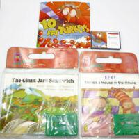 Children's Picture BOOKS ON TAPE Scholastic Carry Along Cassette Classroom
