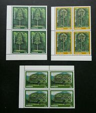 Malaysia Trees 1981 Plant Forest Mountain (stamp block 4) MNH *rare