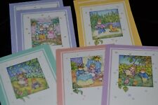 Vtg Mixed Lot of 8 Greeting Cards BOY GIRL BUNNY SPRING Artist BJS from ADR