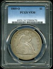 1860-O $1 Liberty Seated Dollar VF30 PCGS 35800670