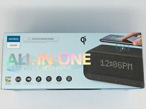 Anker Soundcore Wakey All-in-One Bluetooth Bedside Speaker Alarm A3300Z11 Black