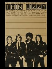 """Thin Lizzy Nottingham 16"""" x 12"""" Reproduction promo Poster Photo"""