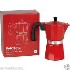 NEW! PANTONE UNIVERSE 6 Cup Coffee Pot Maker (186) Ketchup Red
