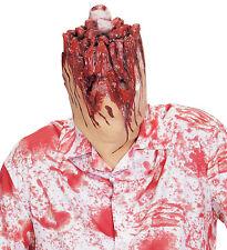 Cabeza Cortada Máscara Adulto Accesorio utilería de Halloween Zombie Sangrienta Horror