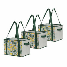 Reusable Grocery Bags Set Shopping Box with Reinforced Bottom  Collapsible  (3)