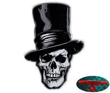 Death top hat Biker Skull Patch grande Patch aufbügler back Patch Harley club 1%