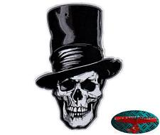 Death top hat Biker Skull Patch Patch aufbügler calavera respect Harley 1%