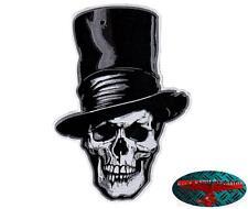DEATH TOP HAT BIKER SKULL Patch groß Aufnäher Aufbügler Backpatch Harley Club 1%