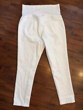 NWOT Liz Lange Maternity Size Large 12 14 White Ankle Length Skinny Jeans