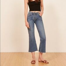 0f890f46dee Sold Out REFORMATION Mid Crop Flare Jeans With Lace Up in Celtic Blue Sz 23  NWT