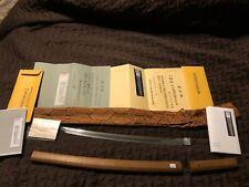 Japanese Samurai Sword: Nbthk Tokubetsu Hozon Nobuyoshi Wakizashi
