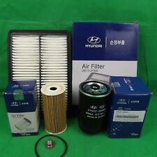 GENUINE HYUNDAI SANTA FE CM SERIES 2.2L CRDI TD FILTER PACK(OIL+AIR+FUEL FILTER)
