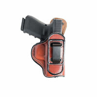 "TUCKABLE INSIDE THE WAISTBAND LEATHER HOLSTER FOR COLT 1911 3"". IWB HOLSTER."