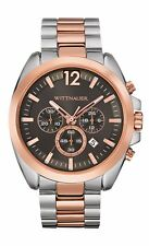Wittnauer Men's WN3023 Quartz Chronograph Grey Dial Two-Tone 44mm Watch