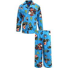 New Ame Sleepwear Boys' Mario Kart Beware of Hazards Flannel PajamasSize 8