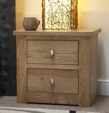 Oak 45cm-50cm Bedside Tables & Cabinets with 2 Drawers