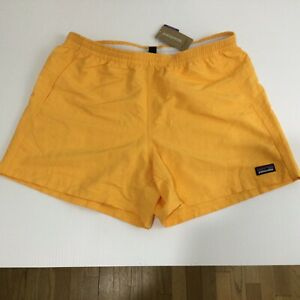Patagonia Women's Baggies 5 Inch Saffron Orange Shorts Size Medium $55 MSRP NWT