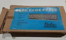 Vintage Tandy Leather Company- Desk Name Plate Kit Set #4116