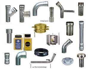 LORO X DN40 / DN50 Stahlrohr Ölleitung Füllleitung, für Öltank Dichtung Rohr