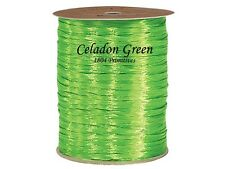 300 ft (100 yds) - Celadon Green Pearlized Wraphia / Raffia - Ribbon