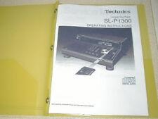 TECHNICS SL-P1300 COMPACT DISC OPERATING INSTRUCTIONS