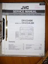 Manual de servicio para JVC dr-e34 Sistema de alta fidelidad, original