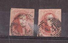 BELGIUM, 1861 ISSUE 2 X 40C IMPERF ISSUES, CAT £150