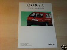 11706) Opel Corsa B accesorios españa folleto 1993