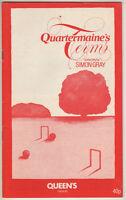 "Edward Fox, Prunella Scales ""Quartermaine's Terms""  Playbill London 1981"