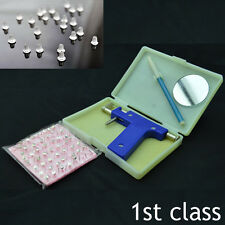Ear Body Piercing Gun With 98 Studs Stainless Steel Tool Set Kit Pierce Metal UK