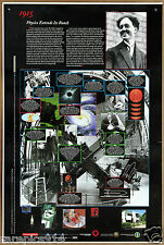 History of Physicis 1915 Extends its Reach Physics Timeline Large Study Poster