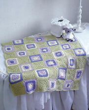 Crochet Pattern ~ Granny Square Baby Blanket Afghan ~ Instructions