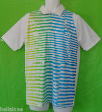 RARE~Puma Golf Performance DUO SWING STRIPE Polo RICKIE FOWLER TOUR Shirt~Mens M