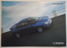 SUBARU IMPREZA orig 2000 UK Mkt Accessories Price List Brochure