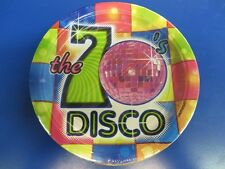 Flashback Fever 70\u0027s Disco Retro Dance Theme Party 7\  Paper Dessert Plates & Music Paper Party Plates | eBay