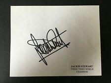 New listing JACKIE STEWART - LEGENDARY SCOTTISH Grand Prix DRIVER - SIGNED ALBUM PAGE