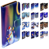 For OPPO Series - Christmas Night Theme Print Wallet Case Mobile Phone Cover #2