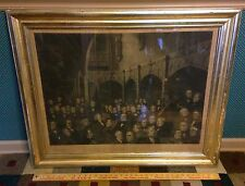 Antique Distinguished Americans Lithograph,NY Historical Society,Thomas Doney