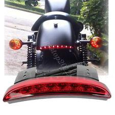 Chopped Custom LED Fender Edge Tip Brake Motorcycle Rear Tail Light For Harley