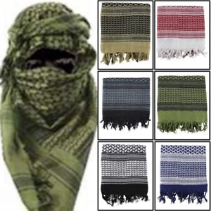 MILITARY SHEMAGH 100% COTTON ARMY FACE COVERING HEAD SAND SCARF MASK ARAB RETRO