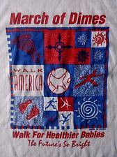 VINTAGE -MARCH OF DIMES WALK AMERICA FOR HEALTHIER BABIES T-SHIRT-XL