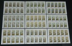 Taiwan 1685-93 1970-71 Scroll Art in top margin blocks of 10 NH, stamps VF+ NH