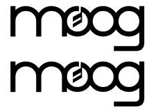 Logo Moog -  Pack of Adhesive Vinyl Stickers Decal