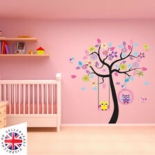 TREE ANIMAL OWL BIRD NURSERY Kid Baby Wall Decal Sticker Deco CHILDREN LARGE