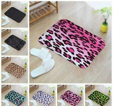 Leopard Animal Print Bath Bed Decor Carpet Area Rug Door Floor Pet Mat kitchen