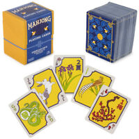 American Mahjong Playing Cards - 156-Card Deck with Western Rules & Storage Box
